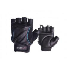 Перчатки для фитнеса PowerPlay 2128 Hit fit кожа синие