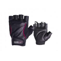 Перчатки для фитнеса PowerPlay 2128 Hit fit кожа красные