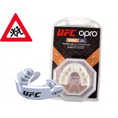 Детская капа OPRO Junior Bronze UFC Hologram white