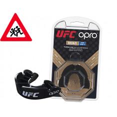 Детская капа OPRO Junior Bronze UFC Hologram black