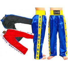 Штаны для кикбоксинга детские KICKBOXING с надписью
