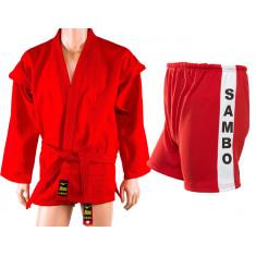 Форма для самбо Mizuno красная