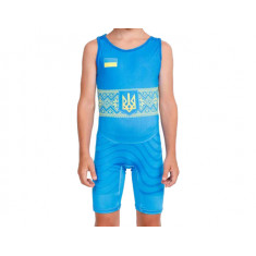 Трико для детей Wrestler UKR approved UWW Kids blue