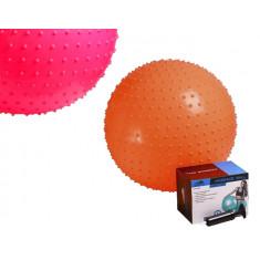 Фитбол массажный PowerPlay 55см + насос