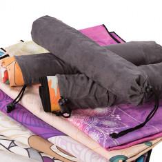 Йогамат-полотенце Suede Silicon 185 х 67 см, с чехлом