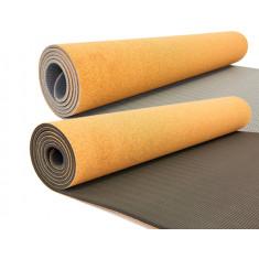 Коврик для йоги TPE пробковый 5 мм Yoga mat
