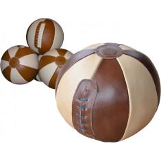 Медбол кожаный вес от 1 до 10 кг
