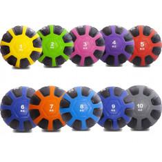 Медбол резиновый твердый Medicine Ball вес от 1 до 10 кг