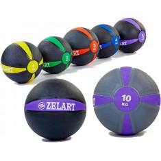 Медбол резиновый твердый вес от 1 до 10 кг
