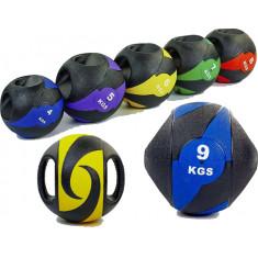 Медбол резиновый с ручками Record Medicine Ball от 3 до 10 кг