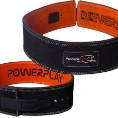 Пояс для тяжелой атлетики PowerPlay 5175 черно-оранжевый