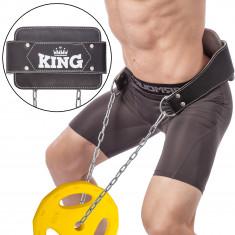 Пояс для отягощений с цепью Dipping Belt KING кожа