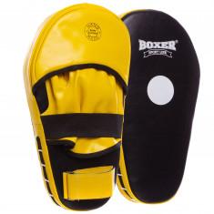 Лапы для бокса BOXER прямые кожаные