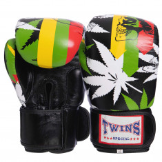 Боксерские перчатки TWINS Print-1 кожа (10oz, 12oz)