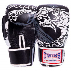 Боксерские перчатки TWINS Print-4 кожа (10oz, 12oz)