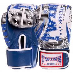Боксерские перчатки TWINS Print-6 кожа (10oz, 12oz)