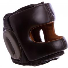 Боксерский шлем с бампером VELO кожаный