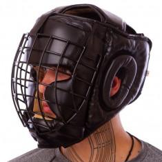 Шлем с металлической маской винил