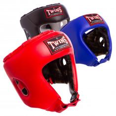 Шлем боксерский TWINS HGL-8 кожаный открытый
