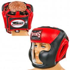 Шлем с полной защитой TWINS HGL-3T кожа