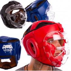 Шлем боксерский с прозрачной маской Venum