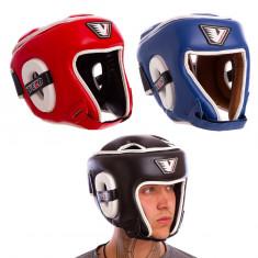 Шлем боксерский VELO VL-8195 кожаный