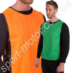 Манишка двусторонняя размер 68 х 43 см оранжевый / салатовый
