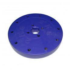 """Блин покрытый пластиком """"Титан"""" 2 кг, отверстие 26 мм"""