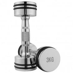 Гантели для фитнеса хромированные 3 кг (пара)