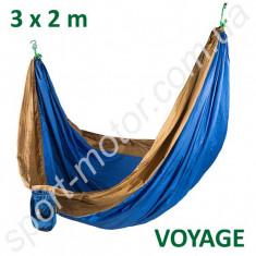 Гамак GreenCamp VOYAGE парашютный шелк 3х2м синий