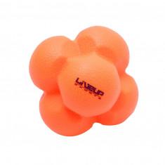 Мяч для тренировки реакции LiveUp REACTION BALL оранжевый