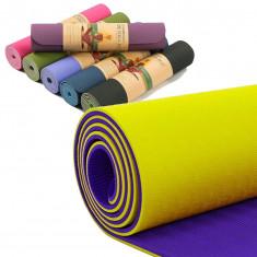 Коврик для йоги и фитнеса Yoga mat  TPE+TC 6мм
