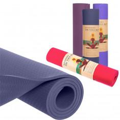 Yoga mat TPE+TC 6 мм коврик