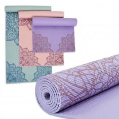 Коврик для занятий FLOWER PVC yoga mat 6 мм