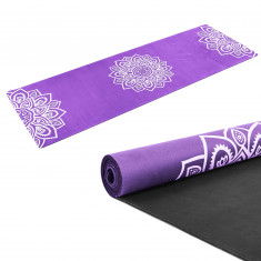 Коврик для йоги каучуковый 3 мм фиолетовый