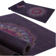 Коврик для йоги каучуковый 3 мм черный
