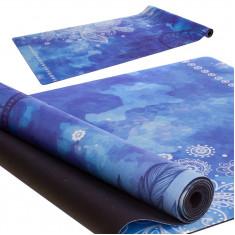 Коврик для йоги каучуковый 3 мм синий
