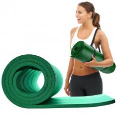Коврик для йоги и фитнеса PowerPlay 4151 NBR 15 мм