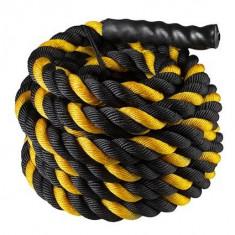 Канат для кроссфита L-12m, D-3,8cm (черно-желтый)