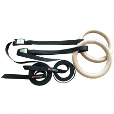 КОЛЬЦА POWER SYSTEM WOODEN GYMNASTIC RINGS PS - 4048