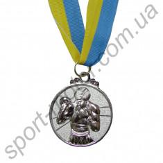 Медаль спортивная Бокс 2 место 28g