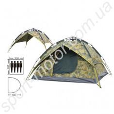 Палатка АВТОМАТИЧЕСКАЯ с тентом 4-х местная камуфляж