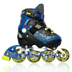 Роликовые коньки AMIGO Fusion (35-38) синий