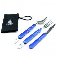 Набор туристический GreenCamp (вилка, ложка, нож)