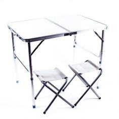 Стол для пикника плюс 2 стула (90 х 60 х 70 см)
