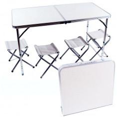 Стол для пикника плюс 4 стула (120 х 60 х 70 см)