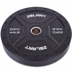 Блины бамперные Bumper Plates 20 кг Zelart