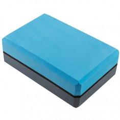 Йога-блок двухцветный серый/голубой Акция !