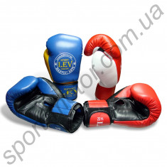 Перчатки боксерские LEV кожа 8oz, 10oz, 12oz, 14oz Акция !