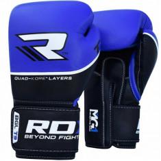 Боксерские перчатки RDX QUAD KORE Blue